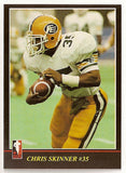 Chris Skinner CFL card 1986 Jogo #80 Edmonton Eskimos  Bishop's Gaiters