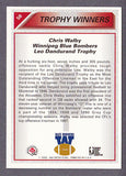 Chris Walby CFL card 1992 All World #58 Winnipeg Blue Bombers  Dickinson State Blue Hawks  Leo Dandurand Trophy  Hall of Fame