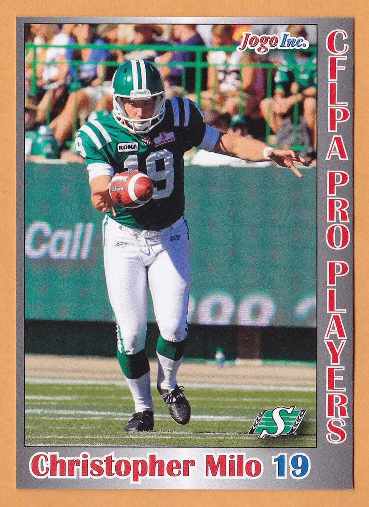 Christopher Milo CFL card 2012 Jogo Pro Player #43 Saskatchewan Roughriders  Laval Rouge et Or