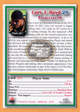 Cory Boyd CFL card 2012 Jogo Pro Player #113 Edmonton Eskimos  South Carolina Gamecocks