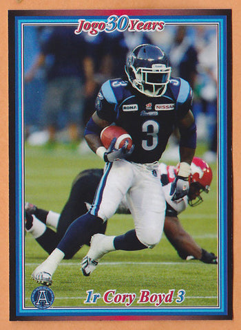 Cory Boyd CFL card 2010 Jogo rookie shortprint #1R Toronto Argonauts  South Carolina Gamecocks