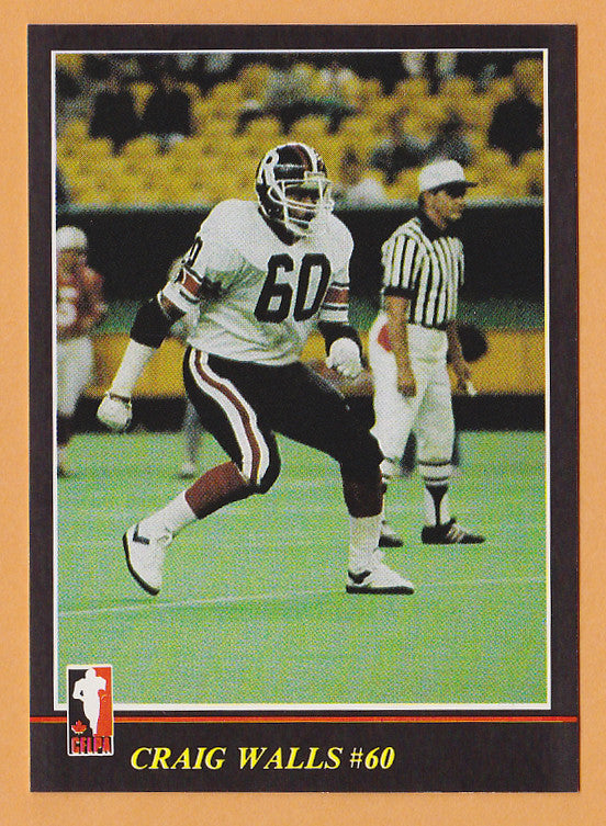 Craig Walls CFL card 1986 Jogo #131 Ottawa Rough Riders  Indiana Hoosiers