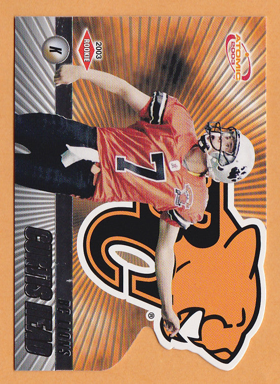 Curtis Head 2003 Pacific Atomic CFL card #7 BC Lions  Marshall Thundering Herd