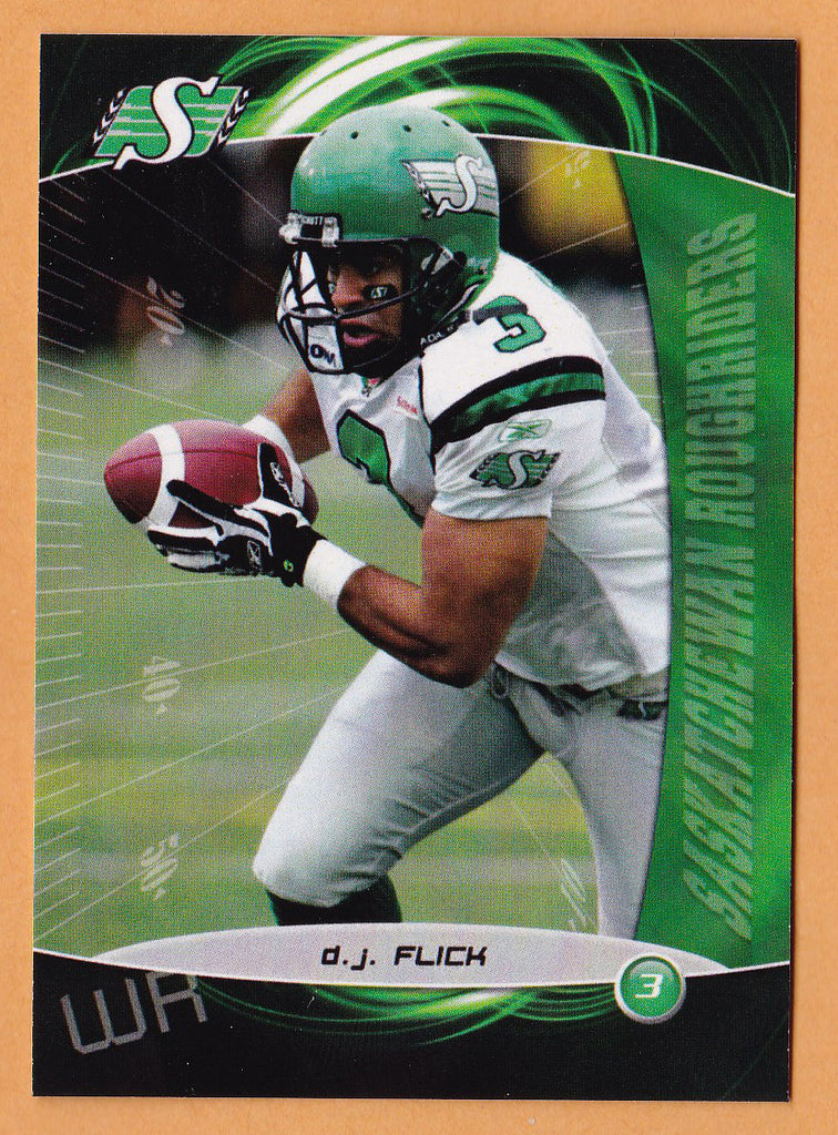 D.J. Flick CFL card 2008 Extreme #69 Saskatchewan Roughriders  Slippery Rock Rock