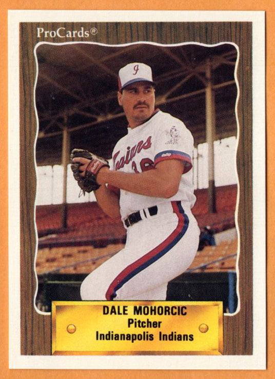 Dale Mohorcic 1990 Indianapolis Indians Minor League Baseball  Cleveland State Vikings  Cuyahoga Community College Challengers  Lakewood Rangers  |  Texas Rangers New York Yankees Montreal Expos