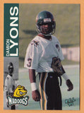 Damion Lyons CFL card 1995 REL #58 Memphis Mad Dogs  UCLA Bruins