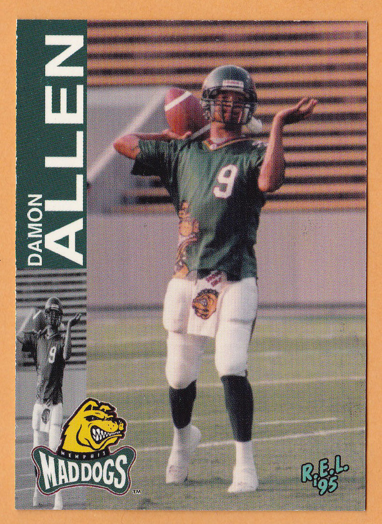 Damon Allen CFL card 1995 REL #71 Memphis Mad Dogs  Cal State Fullerton Titans  Hall of Fame