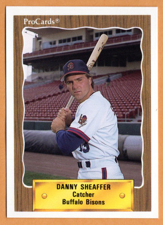 Danny Sheaffer 1990 Buffalo Bisons Minor League Baseball  Clemson Tigers  Red Land Patriots  |  Boston Red Sox Cleveland Indians Colorado Rockies St. Louis Cardinals