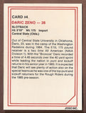 Daric Zeno CFL card 1985 Jogo #4 Ottawa Rough Riders  Central State Bronchos
