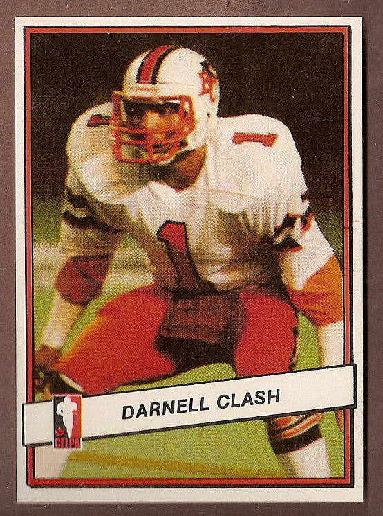 Darnell Clash CFL card 1985 Jogo #46 BC Lions  Wyoming Cowboys