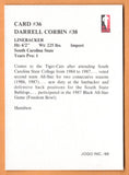 Darrell Corbin CFL card 1988 Jogo #36 Hamilton Tiger-Cats  South Carolina State Bulldogs