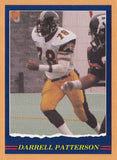 Darrell Patterson CFL card 1989 Jogo #18 Hamilton Tiger-Cats  Texas Christian TCU Horned Frogs