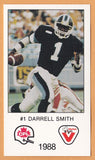 Darrell Smith CFL card 1988 Vachon Toronto Argonauts  Central State Marauders  Hall of Fame
