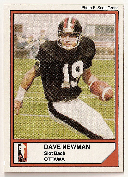 Dave Newman CFL card 1984 Jogo #38 Ottawa Rough Riders  Missouri Tigers
