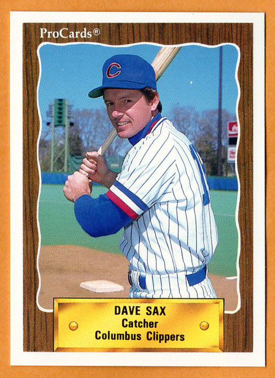 Dave Sax 1990 Columbus Clippers Minor League Baseball  Cosumnes River College Hawks  River City Raiders  |  Los Angeles Dodgers Boston Red Sox