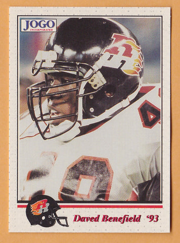 Daved Benefield CFL card 1993 Jogo #119 Ottawa Rough Riders  Cal State Northridge Matadors