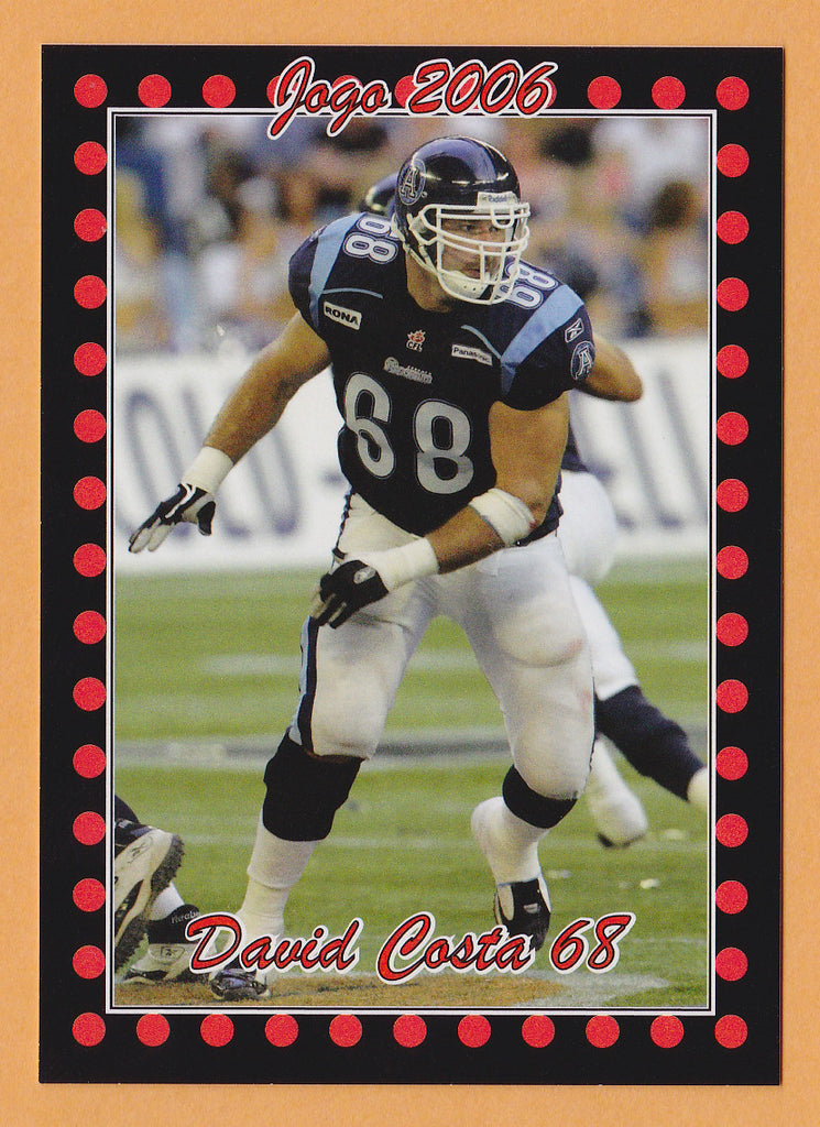 David Costa CFL card 2006 Jogo #119 Toronto Argonauts  Wisconsin Badgers