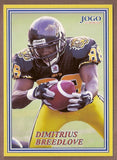 Dimitrius Breedlove CFL card 2004 Jogo #54 Hamilton Tiger-Cats  Evangel University Crusaders