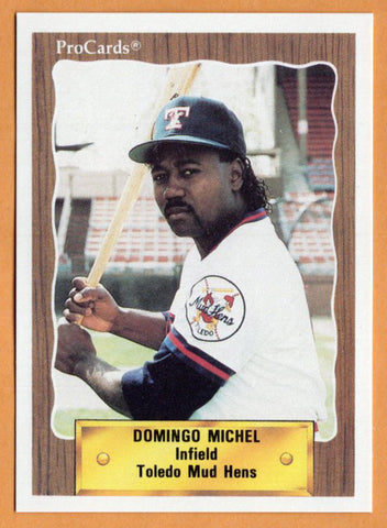 Domingo Michel 1990 Toledo Mud Hens Minor League Baseball  San Pedro de Macoris, Dominican Republic