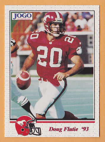 Doug Flutie CFL card 1993 Jogo #166 Calgary Stampeders  Boston College Eagles  Hall of Fame