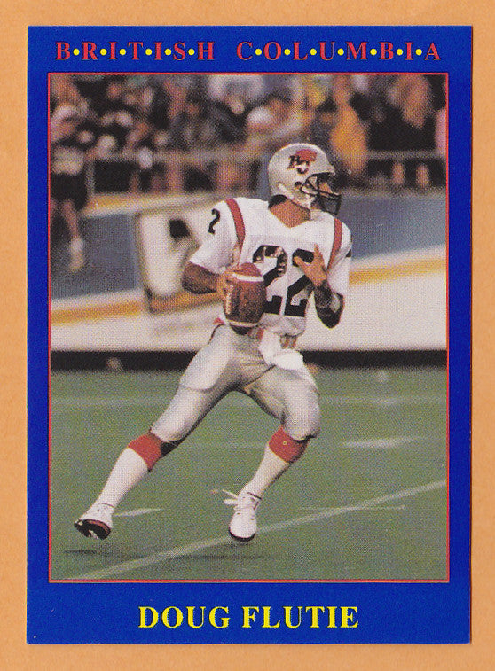 Doug Flutie CFL card 1990 Jogo #94 BC Lions  Boston College Eagles  Hall of Fame