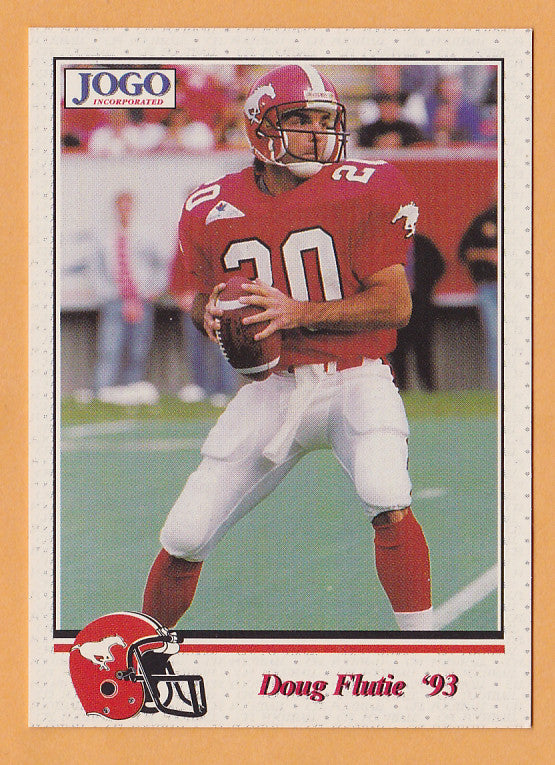 sports shoes 138fa 4fd08 Doug Flutie CFL card 1993 Jogo #220 Calgary Stampeders Boston College  Eagles Hall of Fame