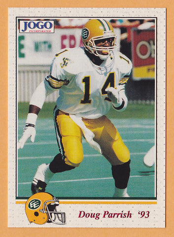 Doug Parrish CFL card 1993 Jogo #210 Edmonton Eskimos  San Francisco State Gators