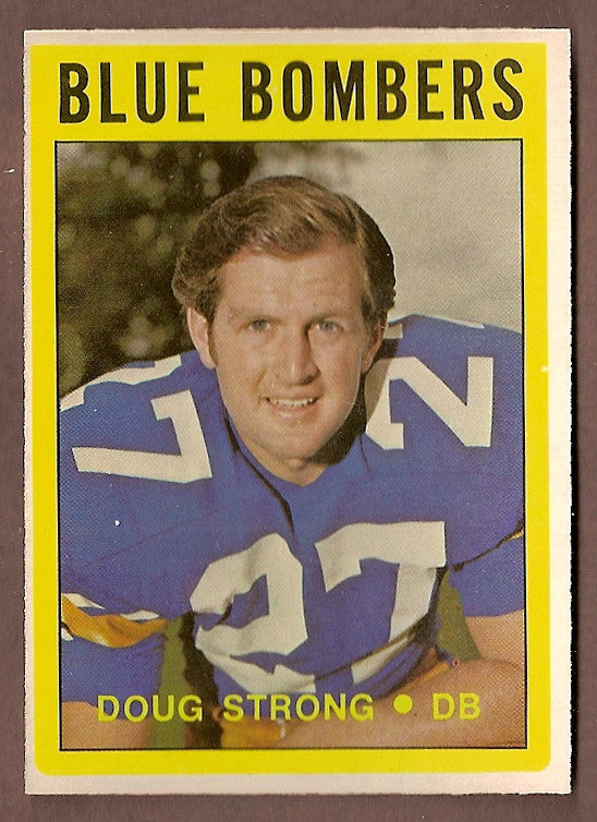 Doug Strong CFL card 1972 O-Pee-Chee #106 Winnipeg Blue Bombers  Waterloo Lutheran Golden Hawks
