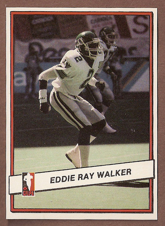 Eddie Ray Walker CFL card 1985 Jogo #90 Saskatchewan Roughriders  Southern Miss Golden Eagles
