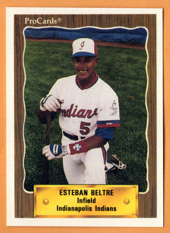Esteban Beltre 1990 Indianapolis Indians Minor League Baseball  Ingenio Quisqueya, Dominican Republic  |  Chicago White Sox Texas Rangers Boston Red Sox