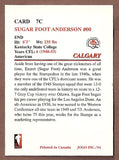 Ezzret Sugar Foot Anderson CFL card 1994 Jogo Missing Years #7C Calgary Stampeders  Kentucky State Thorobreds