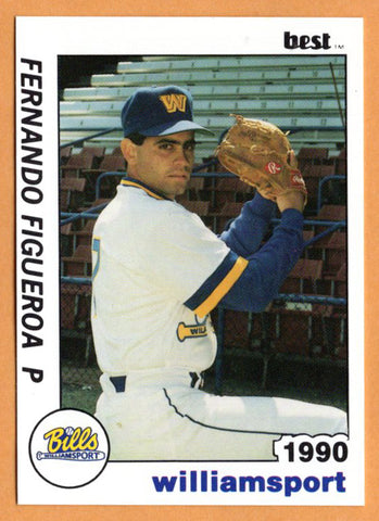Fernando Figueroa 1990 Williamsport Bills Minor League Baseball  Caguas, Puerto Rico