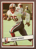 Frank Kosec CFL card 1985 Jogo #67 Montreal Concordes  Waterloo Warriors