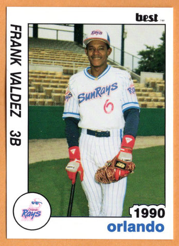Frank Valdez 1990 Orlando Sun Rays Minor League Baseball  Santo Domingo, Dominican Republic