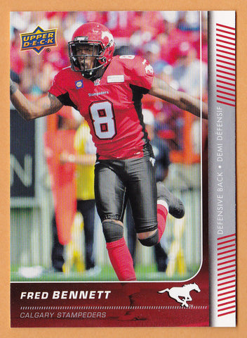 Fred Bennett 2015 Upper Deck CFL card SP #129 Calgary Stampeders  South Carolina Gamecocks