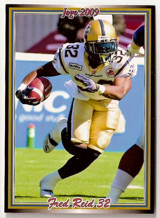 Fred Reid CFL card 2009 Jogo #149 Winnipeg Blue Bombers  Mississippi State Bulldogs