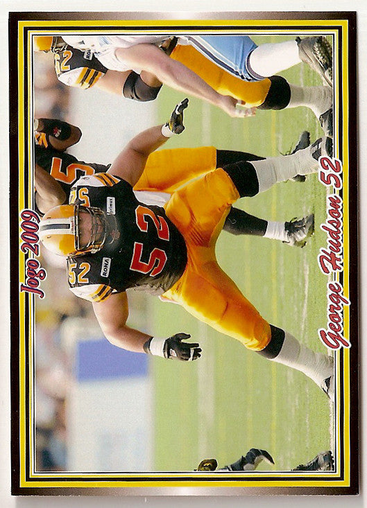 George Hudson CFL card 2009 Jogo #167 Hamilton Tiger-Cats  New Mexico State Aggies
