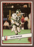Glen Suitor CFL card 1985 Jogo #85 Saskatchewan Roughriders  Simon Fraser Clansmen  TSN