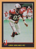 Greg Holmes CFL card 1986 Jogo #128 Montreal Concordes  Carroll College Fighting Saints