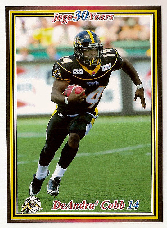 DeAndra Cobb CFL card 2010 Jogo #173 Hamilton Tiger-Cats  Michigan State Spartans  Antelope Valley Marauders