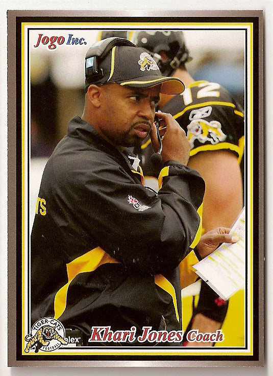 Khari Jones CFL card 2011 Jogo #99 Hamilton Tiger-Cats  California UC Davis Aggies
