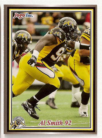 Al Smith CFL card 2011 Jogo #88 Hamilton Tiger-Cats  Northwestern State Demons