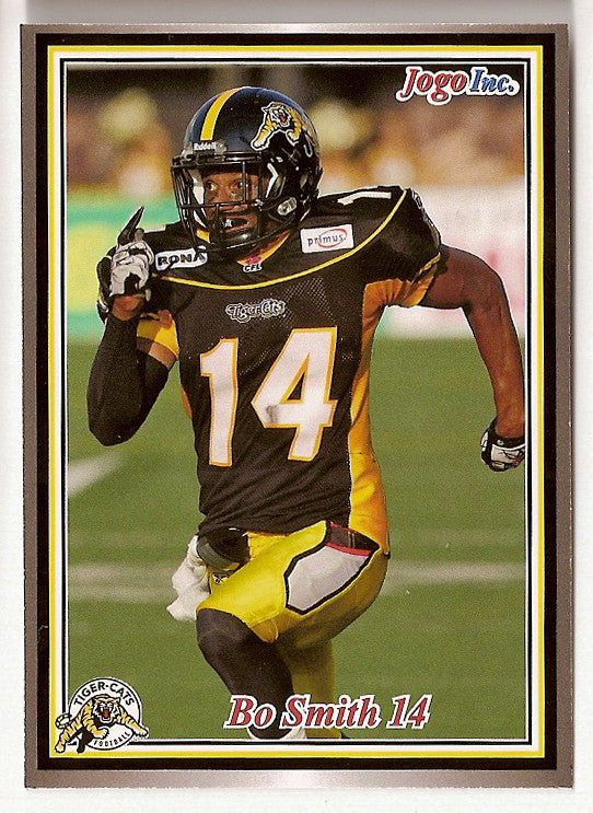 Bo Smith CFL card 2011 Jogo #102 Hamilton Tiger-Cats  Kentucky Wildcats  Weber State Wildcats