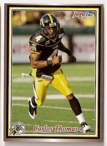 Carlos Thomas CFL card 2011 Jogo #90 Hamilton Tiger-Cats  South Carolina Gamecocks