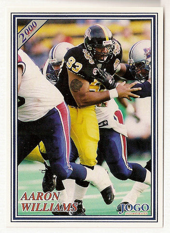 Aaron Williams CFL card 2000 Jogo #167 Hamilton Tiger-Cats  Indiana Hoosiers