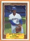 Hector De La Cruz 1990 Syracuse Chiefs Minor League Baseball  Sabana Perdida, Dominican Republic