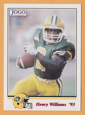 Henry Gizmo Williams CFL card 1993 Jogo #77 Edmonton Eskimos  East Carolina Pirates  Hall of Fame