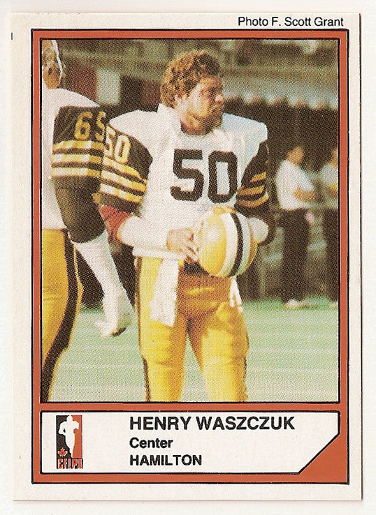 Henry Waszczuk CFL card 1984 Jogo #45 Hamilton Tiger-Cats  Kent State Golden Flashes
