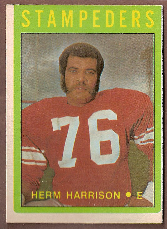 Herm Harrison CFL card 1972 O-Pee-Chee #55 Calgary Stampeders  Arizona State Sun Devils  Hall of Fame