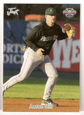 Aaron Hill 2005 Just Minors Road to the Show Minor League Baseball New Hampshire Fisher Cats  LSU Tigers  Redwood Rangers  |  Toronto Blue Jays Arizona Diamondbacks Milwaukee Brewers Boston Red Sox San Francisco Giants